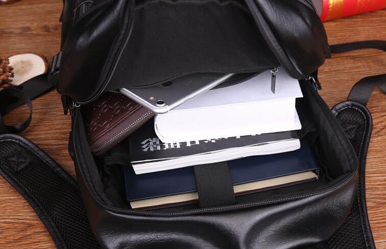 PU reisender Rucksack für Mannfrauen beiläufige Art und Weise 14 Zoll Laptoprucksäcke große Größengezeiten Computerschulrucksäcke geben Verschiffen frei
