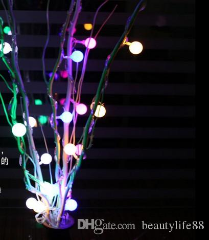 ديكور المنزل الأنوار الصمام الأنوار الصغيرة أضواء غرفة المعيشة غرفة ترتيب جولة إناء الزهور شجرة Dendrites عيد ميلاد مفاجأة