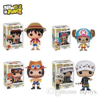 Funko Pop One Piece Luffy Ace Chopper Action Figures Pvc Anime Toys