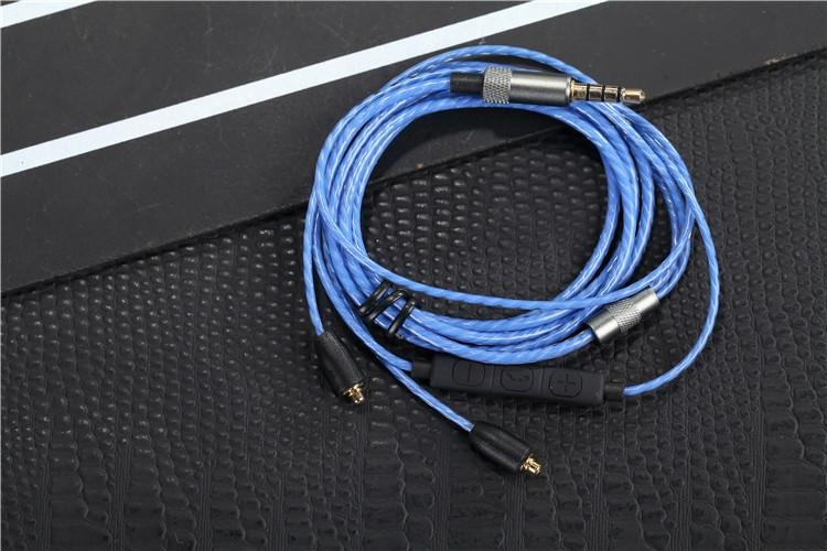 Upgrade DIY Replacement MMCX Plug Cable Repair Headset With MIC Headphone Line For SE215 SE425 SE535 DHL Free