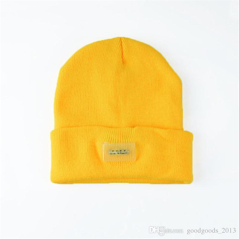 LED headlamp Glow Knitting fishing hat 5 leds Adult &Kids Winter Snowman Warmer cap Outdoor Skiing Sport Hat christmas Gift b1088