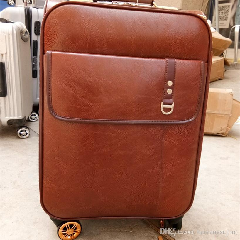 High Quality Caster Trolley Suitcase Fashion Ladies Designer Retro Trolley  Luggage Business Travel With Trolleys Mala De Viagem Suitcases Laptop Bags  From ... aeefe496abca6
