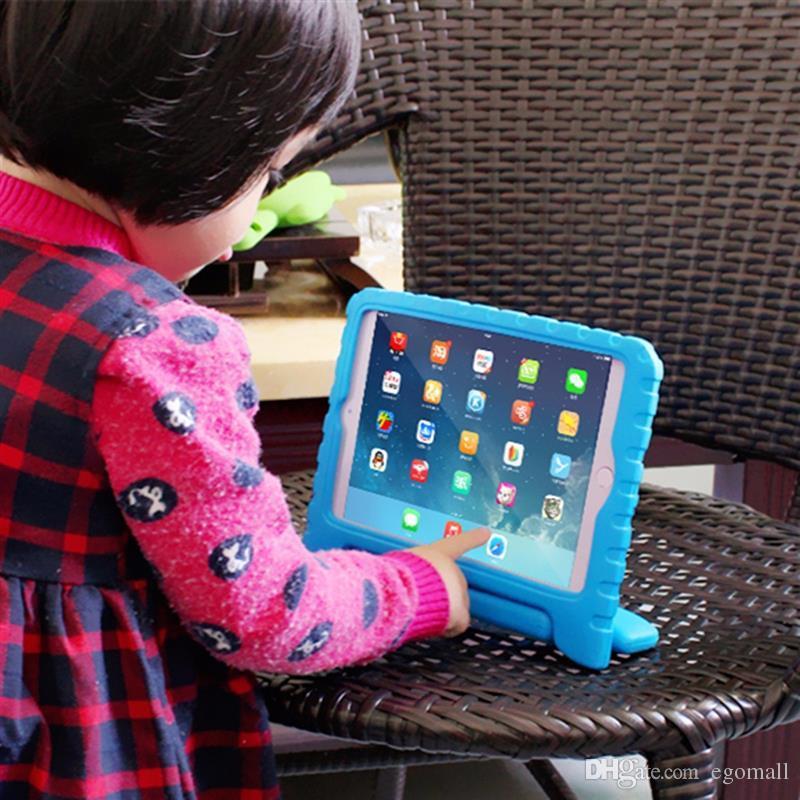 Multifunções Crianças Seguro EVA Macio Luz Espuma De Peso À Prova de Choque Lidar Com Caso De Proteção Com Suporte Para ipad 2/3/ipad ipad Mini