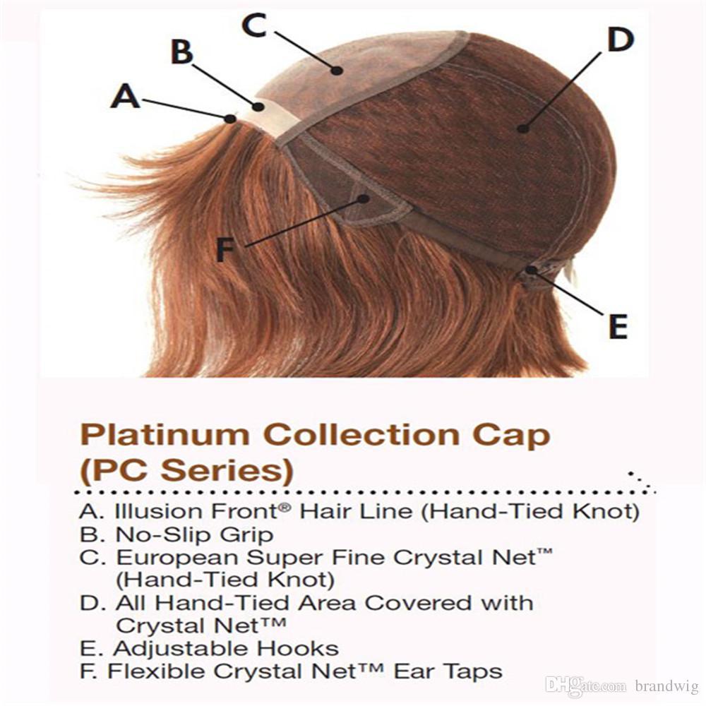 Kabell puede personalizar el pelo liso sin cola brasileña del cabello humano 100% peluca llena del cordón del yaki peluca llena del cordón Virgen con color del bebé # 33