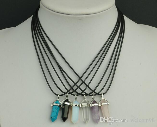 10個/ロット多色ダイヤモンドランプワークガラスペンダントネックレスディークラフトファッションジュエリーギフトPG12