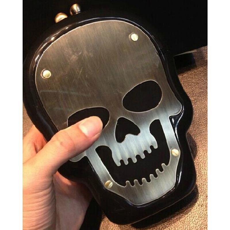 Women Lady Punk Skull Acrylic Clutch Messenger Bag Evening Shoulder Purse Perfume Bag Monster Knuckle - A009