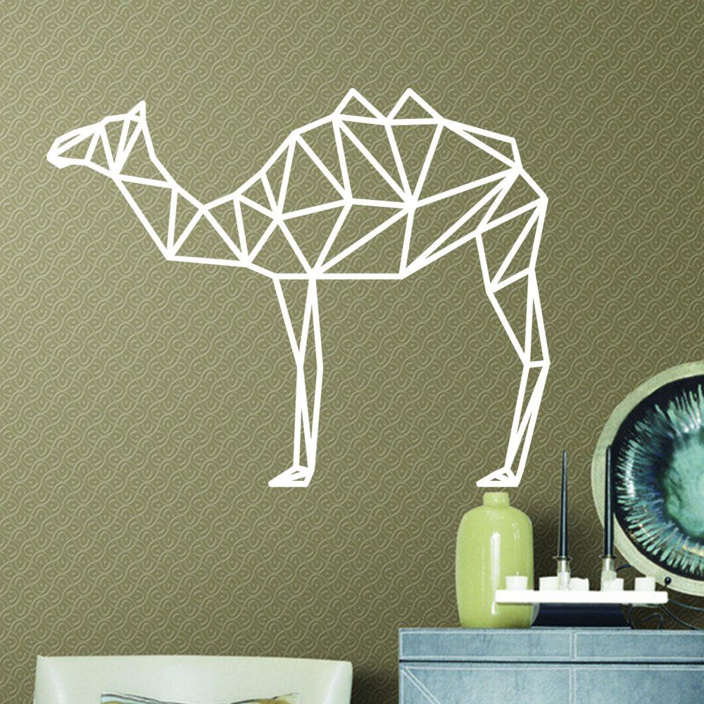 Geometric Camel Vinyl Wall Art Stickers Creative Animal Wall Decor