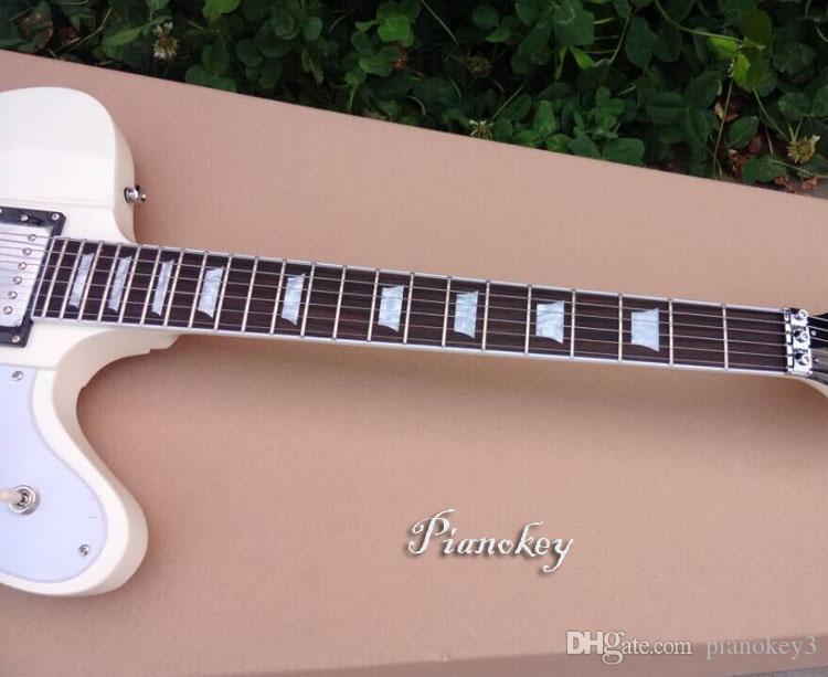 White color firebird style guitar,Floating bridge,accept custom electric guitar,