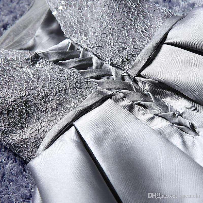 2017 Günstige Champagne Burgundy Silber Satin Kurze Brautjungfernkleider Dollars Lace Cap Sleeves Trauzeugin Cocktail Party Kleid unter 50