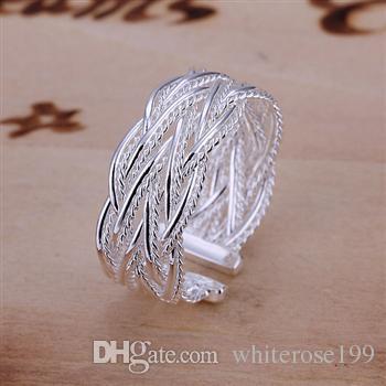 Commercio all'ingrosso - regalo di Natale di prezzi più bassi al minuto, trasporto libero, nuovo anello di modo d'argento 925 yR023