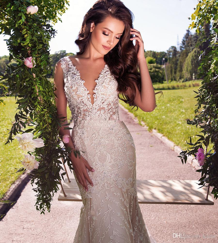 Milla Nova Detachable Train Mermaid Wedding Dresses Modest Lace Organza Garden Dubai Arabic Overskirt Castle Wedding Bridal Gown