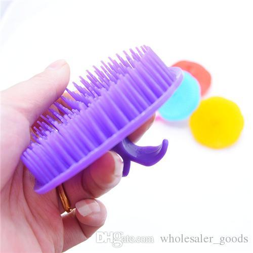 Shampoo Massage Brush Shampoo Shower Scalp Head Brush Shampoo Dedicated Plastic Comb Hair Care Massager Brush Washing Hair Massage Comb