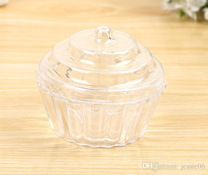 Clear Cake Stand Cupcake Favor Candy Box Wedding Birthday Container Plastic Party Treat Food Sweets Boxes Favours Christmas Gift Wrap