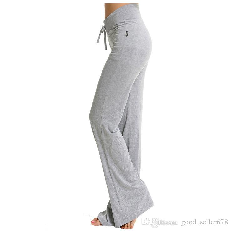 Womens Yoga sport Pants Trousers Hot Cotton fitness Practise dance loose long Pants Exercise Lounge Sports Pant Trouser Bloomer plus sizes