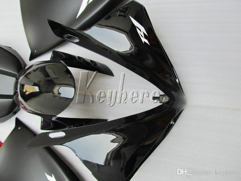 100% carenature stampi ad iniezione Yamaha YZF R1 09 10 11 12 13 14 carenatura rosso opaco nero YZFR1 2009-2014 OR14