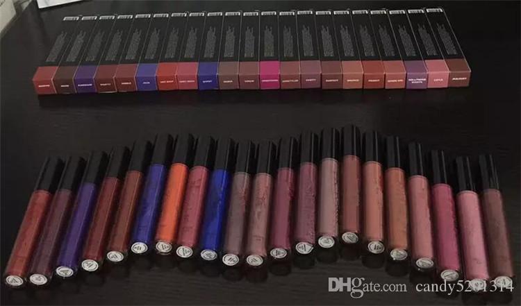 Hot New Makeup Matte Liquid Lipstick Lip gloss i Fall Mattely in love 22 Matte trick spice lipgloss di alta qualità DHL Libero A08