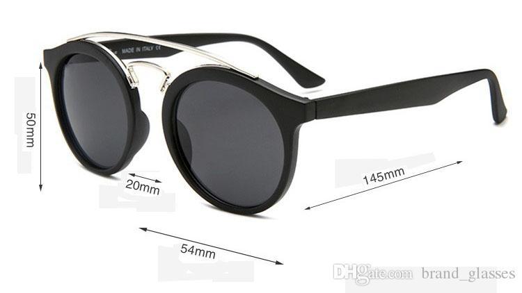 Brand sunglasses men women fashion Retro brand design round sun glasses uv400 Goggle gafas de sol With free brown cases and box