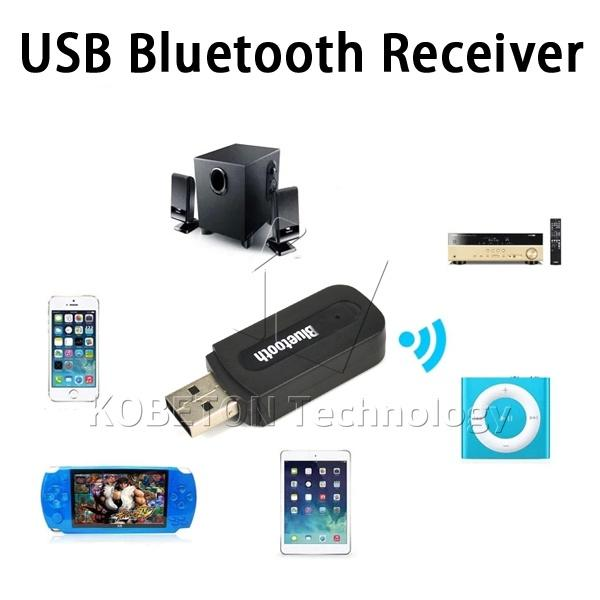 2019 Portable USB Bluetooth Audio Receiver Stereo Music Receiver Dongle 3.5mm Jack For Speaker