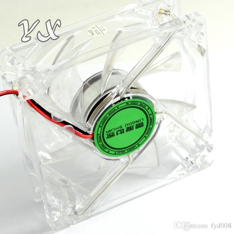 8025 GDT LED verde PC Computer Case Ventilador sin escobillas 80mm 80 * 80 * 25mm 8025S DC 12V 4Pin Cooler