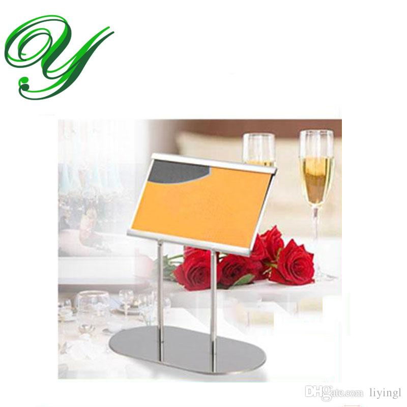 Place Card Holders Table Number Holder Silver Table Card Stand Table  Decoration Stainless Steel 12cm Business Card Standing Holders Wedding  Displays Display ...