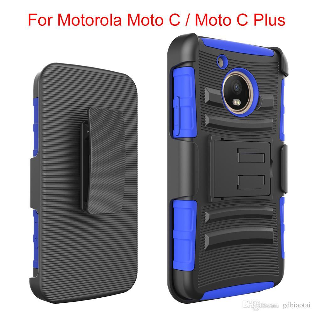 Новый супер комбо черный верхняя и нижняя крышка с 360-градусный вращающийся клип ударопрочный и водонепроницаемый для Motorola C plus