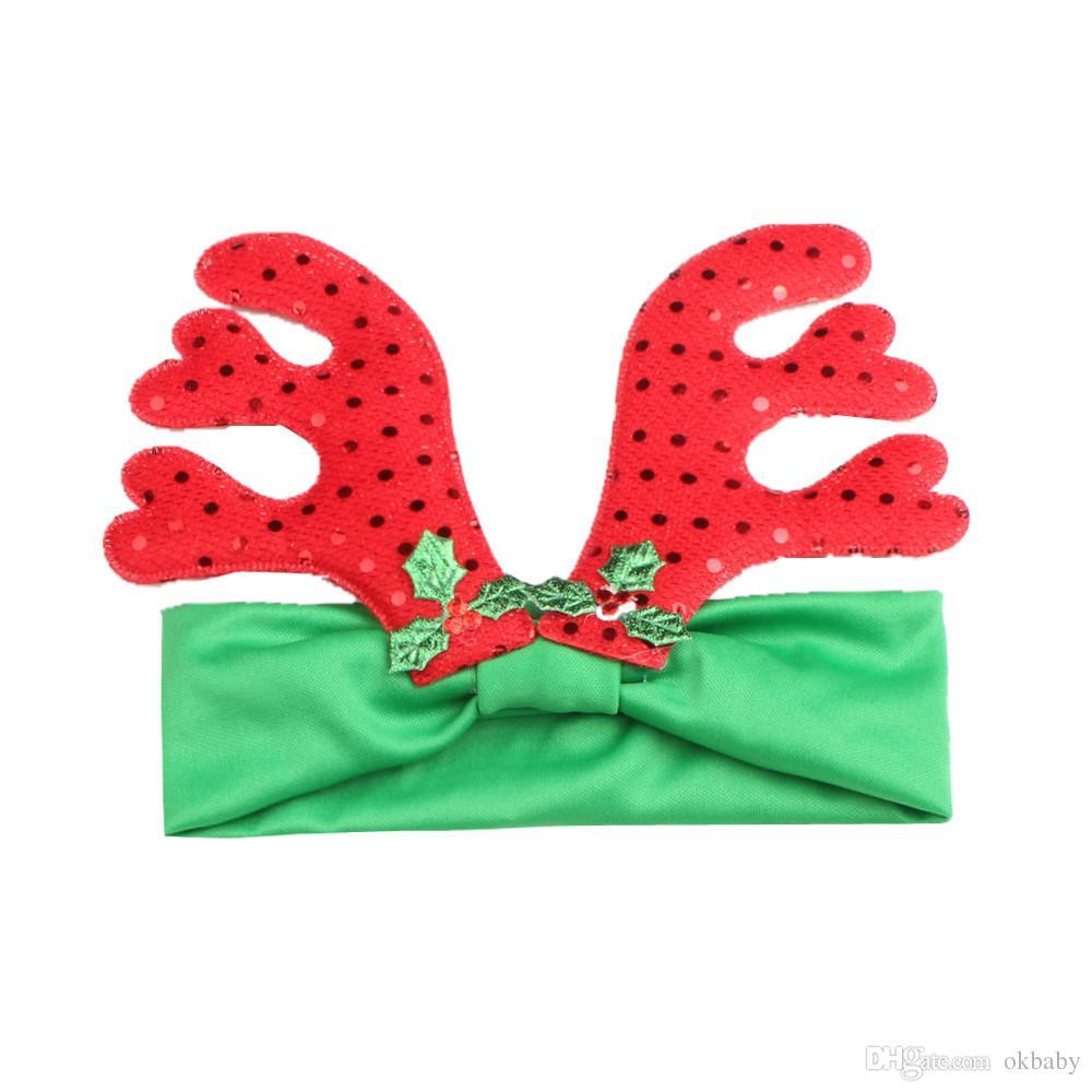 New Christmas headband baby hair accessories Daisy headbands Small deer horn hair band for girls on sale