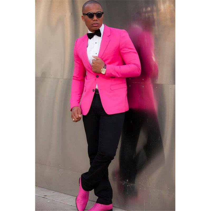 Custom Pink Men Suits Suit Best Man Groom Wedding Dress