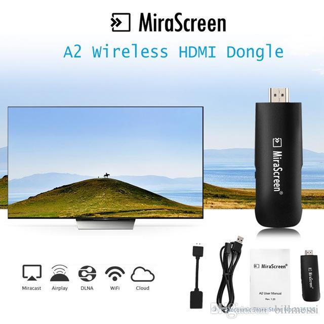 Original Mirascreen A2 Ota Tv Stick Hdmi Dongle Chromecast Wifi ...