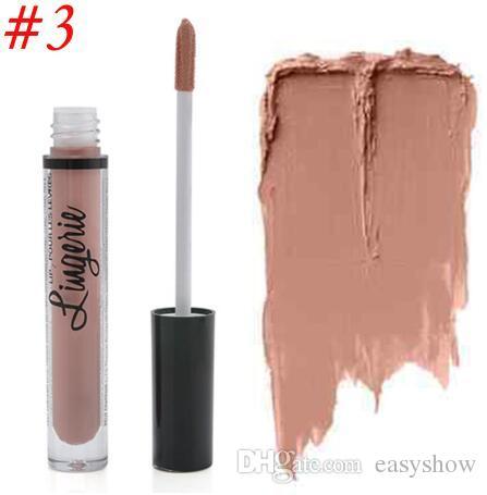 Nuovi i NY Lipstick Lip Lingerie Matte Liquid Liquid Liquid Lip Impermeabile Lip Gloss Lunga durata Rossetto Trucco Maquillage Spedizione gratuita