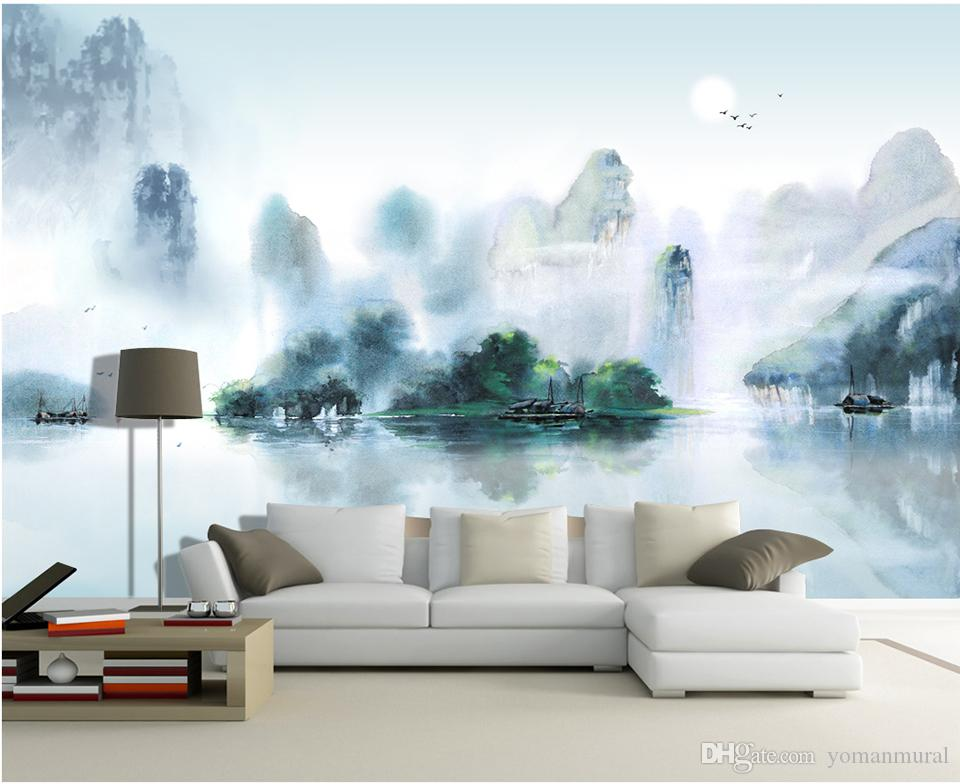 Custom Large Wall Murals Painting Style Landscape Pain Tv Walls Background  Bedroom Living Room Study Home Decor Wallpaper Wallpaper For Mobile  Wallpaper For. Custom Large Wall Murals Painting Style Landscape Pain Tv Walls