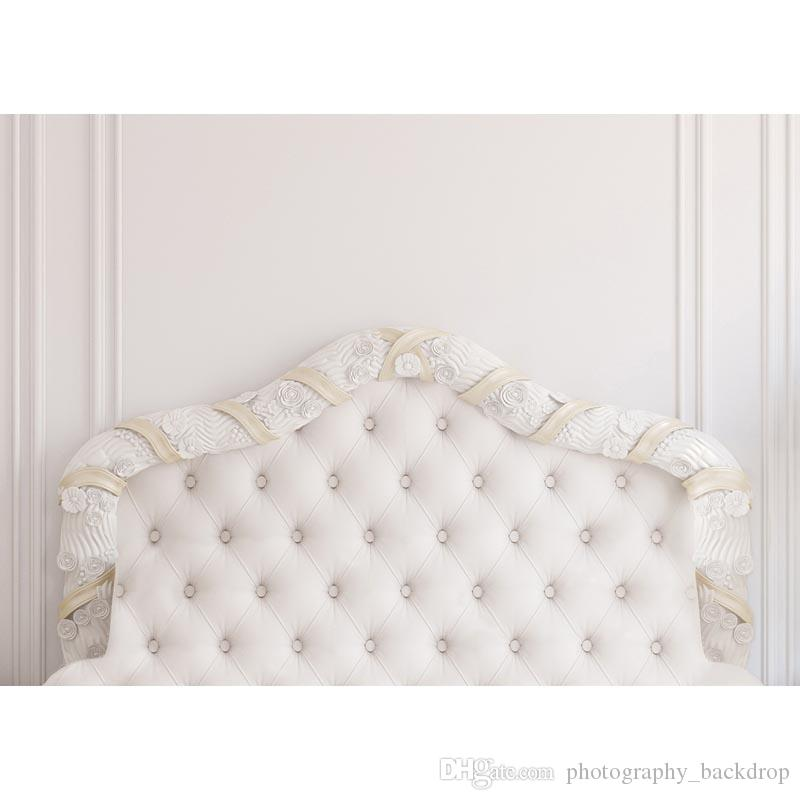 baroque bed headboard tufted bed photography backdrop thin vinyl photo studio background wallpaper F-2515