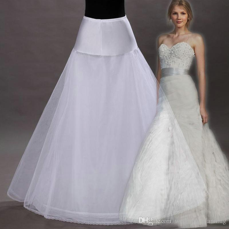 A Line White Tulle Wedding Dress 2017 Arabic Bridal: 2017 White Tulle Bride Petticoats One Hoop Petticoats For
