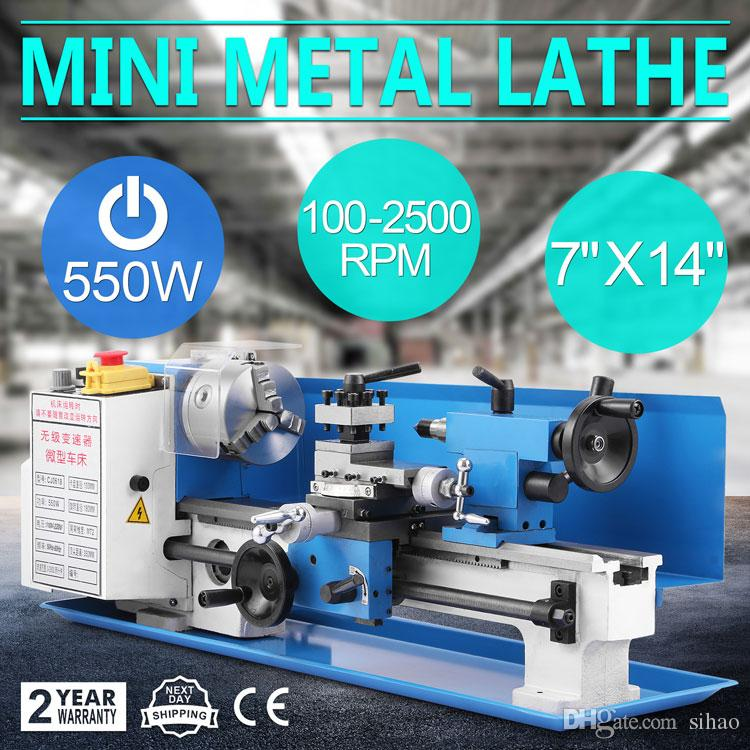550w Precision Mini Metal Lathe Metalworking Variable Speed Tooling