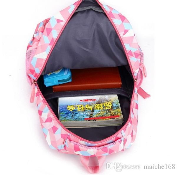 Moda Kız Okul Çantası Su Geçirmez hafif Kızlar Sırt Çantası baskı baskı sırt çantası çocuk
