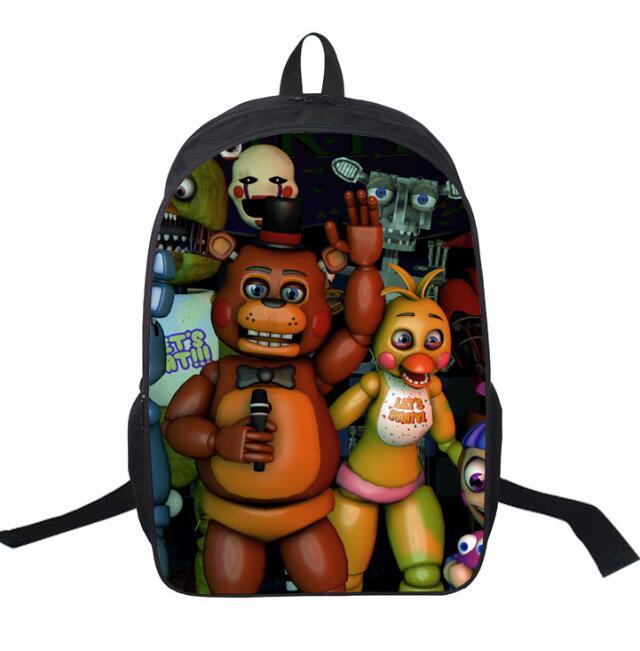 Five Nights at Freddy's backpack schoolbag chica bear figure toy Cartoon schoolbags Five Nights At Freddy Bags