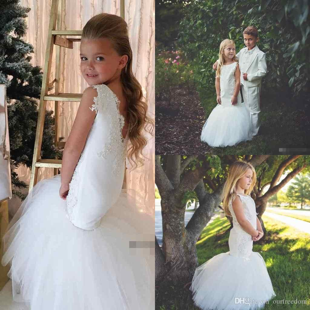 Adorable mermaid flower girl dresses special occasion for weddings 10 ombrellifo Gallery