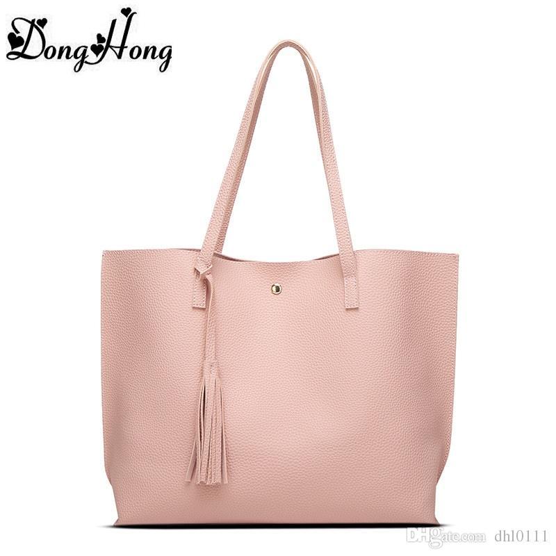 ac70f692fb93 Luxury Women Shoulder Bag Soft Leather TopHandle Bags Ladies Tassel Tote  Handbag High Quality Women s Handbags bolsa feminina