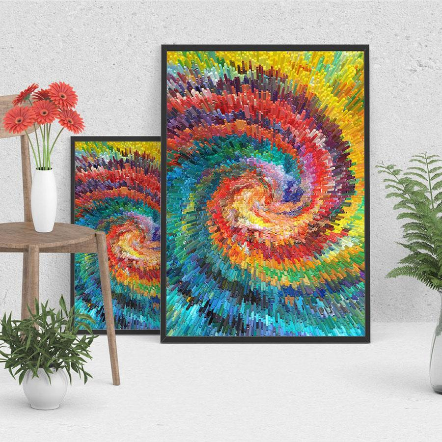 Custom 3d Wallpaper Abstract Painting Wall Mural Rainbow Swirl Wallpaper  Bedroom Dining Room Office Modern Room Decor Interior Decoration Desktop  Background ...