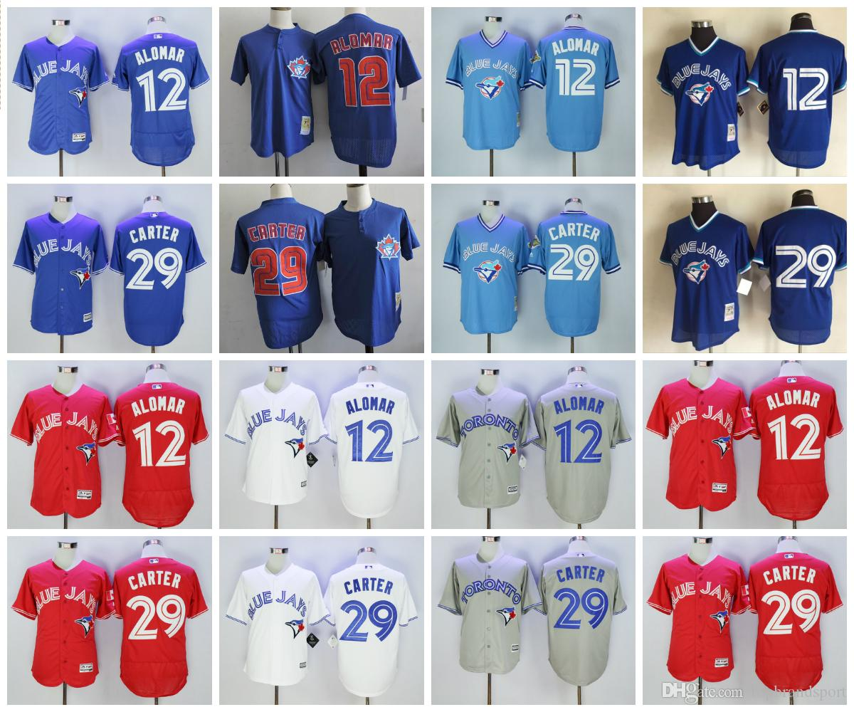 007c5b00869 ... france 2017 toronto blue jays baseball jerseys retro retired player 12  roberto alomar jersey mens 29
