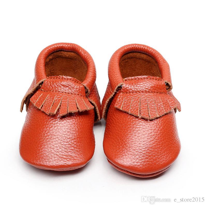 kids_store Baby Lauflernschuhe Echtes Leder Quasten Mokassins Weiches Leder Baby Mokassins weiche Sohle