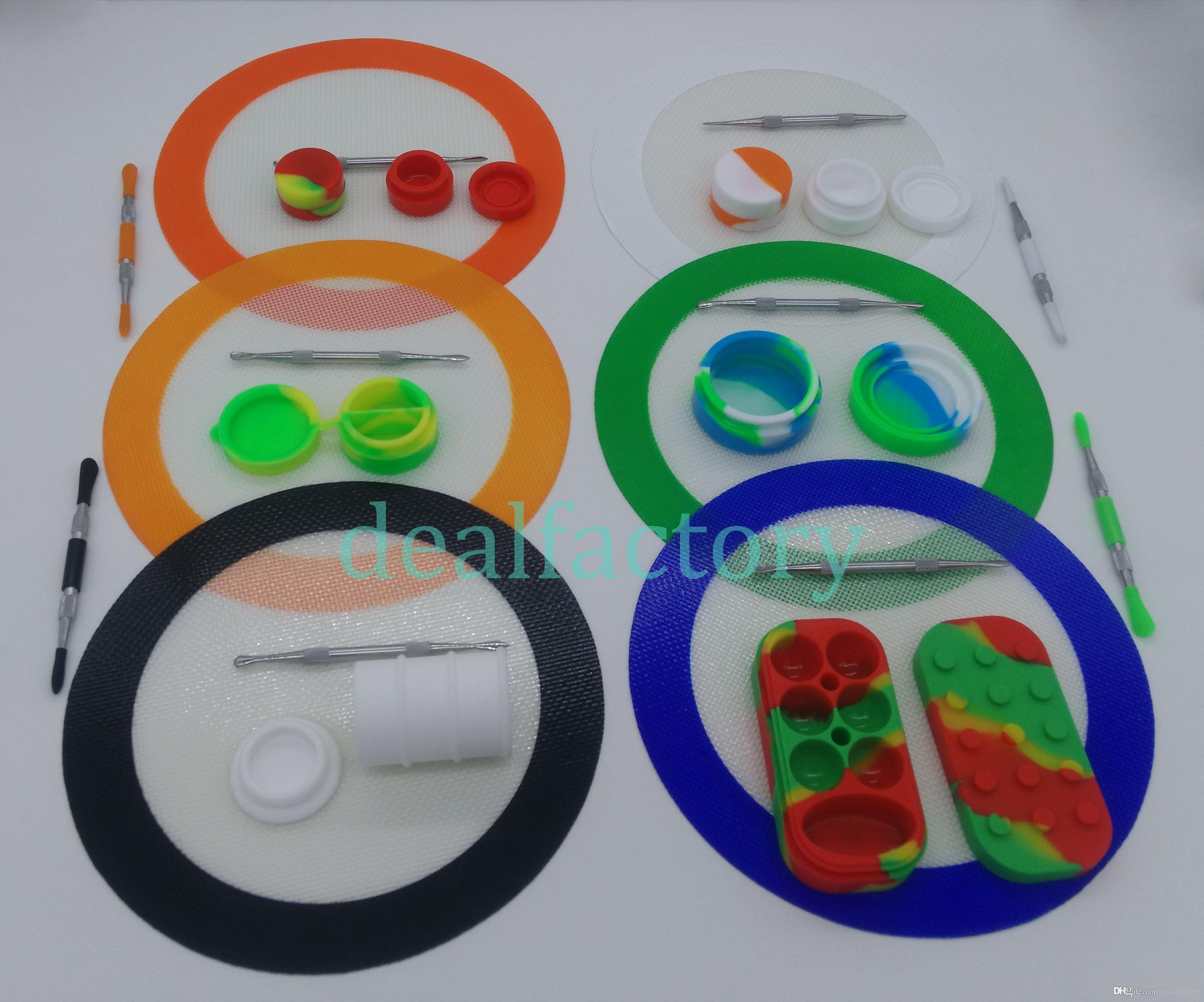 Silicone Dab Tool Kit With 7 87 Silicone Round Mat Pad 6 1