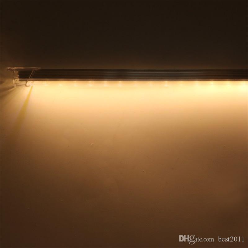Impermeable 5630 SMD 50cm 36 LED Barra de gabinete de tira dura Luz blanca pura blanca caliente con cubierta DC12V