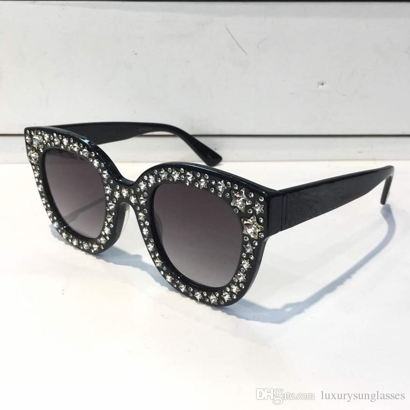 0504a6e523 0116 Sunglasses Luxury Women Brand Designer Cat Eyes Glasses Summer Style  Rectangle Full Frame Top Quality UV Protection Come With Case Baby  Sunglasses ...