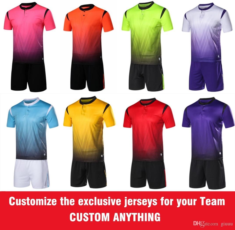 b7c24133f Thai AAA Customize Soccer Jerseys Custom Soccer Club Team Shirt Custom  Group Football Uniform World Cup