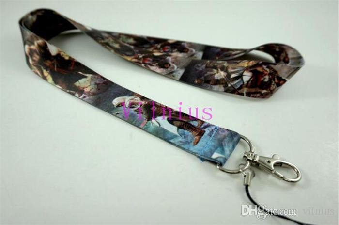 /Wholesale Popular Game Style Assassin's Creed Necklace Strap Lanyards Cell Phone PDA Key ID Strap Charms