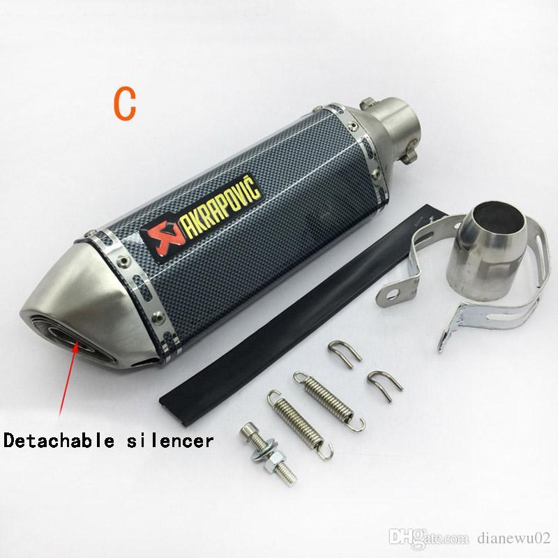 Universal Modified Akrapovic yoshimura Motorcycle Muffler Exhaust Pipe CB400 CB600 CBR600 CBR1000 YZF FZ400 Z750 YZF600