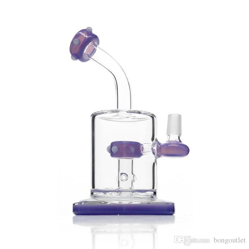 Rosa e viola Hookah Bongs Type Bent Tipo di impianto di petrolio con tubi ad acqua di 7,9 pollici