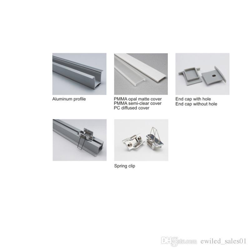 10 X 1M conjuntos / muito experiente perfil de alumínio fornecedor levou e Al6063 em forma de T levou canal tira para tecto ou parede luzes encastradas