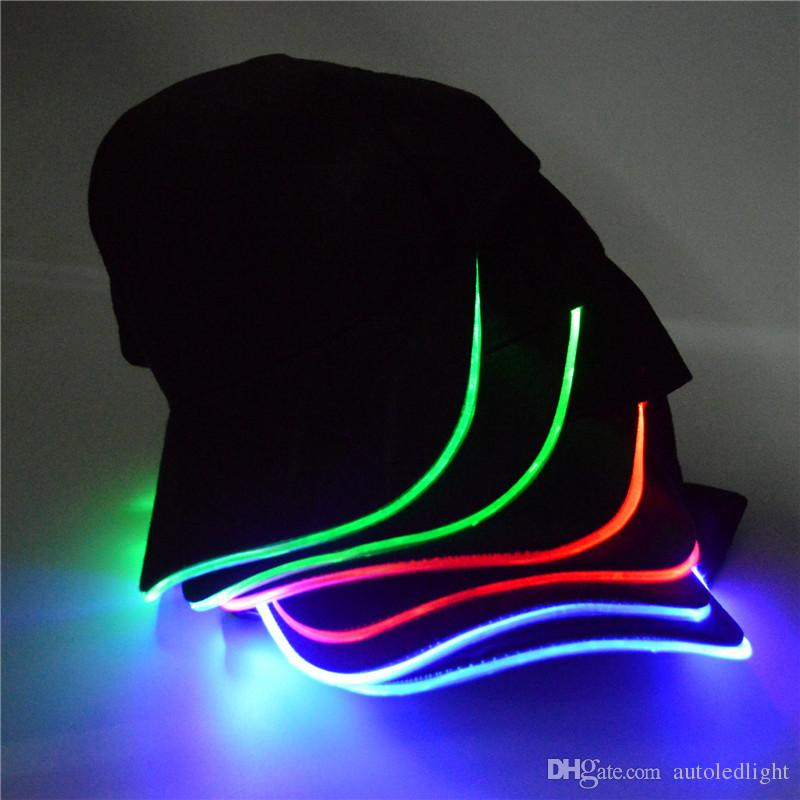 LED Light Up Glow Baseball Hat Unisex Led Luminous Party Baseball Hats Led  Ball Caps Glow Up Hats For Club Party Sports Army Hats Custom Caps From ... 20b4392d89dc
