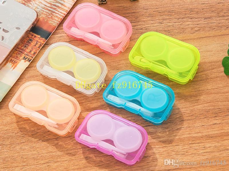 50psets / الكثير 4 في 1 مجموعات مربع رفيق مع شنقا حفرة الاتصال مربع عدسة نظارات حالة خلع الملابس حالة